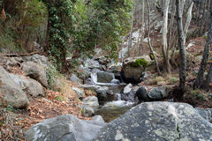 Caledonia waterfall. In Troodos Mountains Royalty Free Stock Photos