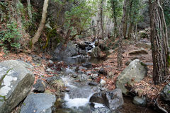Caledonia waterfall. In Troodos Mountains Royalty Free Stock Photography