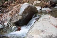 Caledonia waterfall. In Troodos Mountains Stock Image