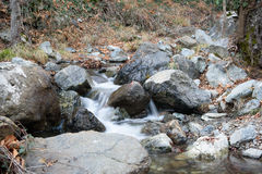 Caledonia waterfall. In Troodos Mountains Stock Photos