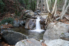 Caledonia waterfall. In Troodos Mountains Royalty Free Stock Images