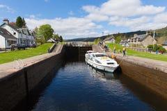 Caledonian canal Fort Augustus Scotland UK near Loch Ness Stock Photos