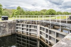 Caledonian canal locks at Corpach Fort Filliam Highlands. Scotland Royalty Free Stock Images
