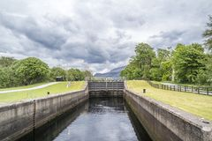 Caledonian canal locks at Corpach Fort Filliam Highlands. Scotland Stock Photography