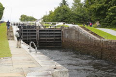Caledonian canal staircase. Caledonian canal, Banavie locks, Neptune's Staircase, near fort william in Scotland Stock Photos