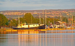 Caledonian kanal för solnedgång Royaltyfri Bild