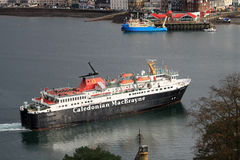 Caledonian MacBrayne Ferry entering Oban Harbour Royalty Free Stock Photography