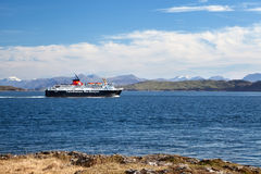 Caledonian MacBrayne ferry in the sound of Mull, Inner Hebrides, Stock Photo