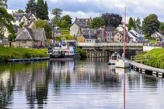 Caledonisch Kanaal in Fort Augustus, Schotland Royalty-vrije Stock Foto