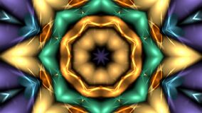 Caledoscopic animation of abstract fractal background