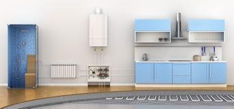Calefacción alternativa debajo del piso libre illustration