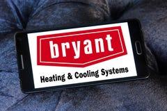 Calefacción de Bryant y logotipo de la compañía de los sistemas de enfriamiento Imagenes de archivo