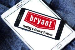 Calefacción de Bryant y logotipo de la compañía de los sistemas de enfriamiento Imagen de archivo