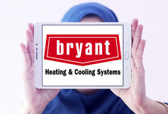 Calefacción de Bryant y logotipo de la compañía de los sistemas de enfriamiento Fotos de archivo libres de regalías