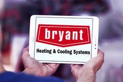 Calefacción de Bryant y logotipo de la compañía de los sistemas de enfriamiento Imagen de archivo libre de regalías