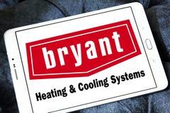 Calefacción de Bryant y logotipo de la compañía de los sistemas de enfriamiento Imágenes de archivo libres de regalías