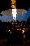 Calefacción del globo caliente Fotos de archivo libres de regalías