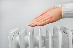 Calefacción ecológica en casa imágenes de archivo libres de regalías