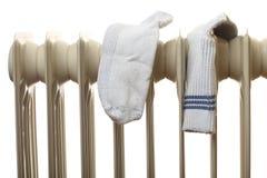 Calefacciones que se secan - aisladas en un fondo blanco Foto de archivo libre de regalías