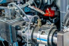 Calefator cerâmico da braçadeira Sistema de aquecimento para as tubulações para máquinas plásticas da modelação por injeção fotos de stock royalty free