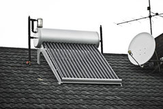 Calefator de água solar Foto de Stock Royalty Free