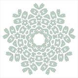 Caleidoscópio étnico branco floral do ornamento do laço ilustração stock