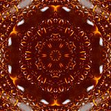 Caleidoscópio ambarino do teste padrão da resina das gotas backdrop ilustração royalty free