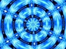 Caleidoscópio azul Foto de Stock