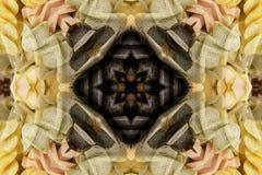Caleidoscópio com o ornamental bonito da cor Fotografia de Stock Royalty Free