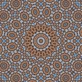 Caleidoscópio da simetria do sumário do teste padrão do vintage multicolored ilustração do vetor
