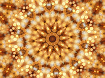 Caleidoscópio do mosaico de luzes circulares Imagens de Stock Royalty Free