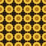 Caleidoscópio do ouro como o teste padrão Imagens de Stock