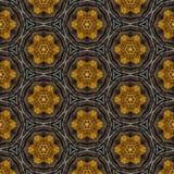 Caleidoscópio escuro do ouro como o teste padrão Imagens de Stock Royalty Free