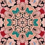 Caleidoscópio multicolorido do sumário do fundo colorido mandala do contexto foto de stock