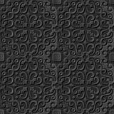 Caleidoscópio transversal espiral do teste padrão 038 de papel escuros elegantes sem emenda da arte 3D Imagens de Stock Royalty Free