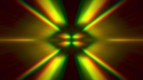 Caleidoscoop dynamische magische psychedelische flikkerende achtergrond stock footage