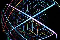 Caleidoscoop Licht Levendig Sydney 2014 Stock Foto