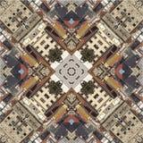 Caleidoscoop, vierkant, textuur, patroon, symmetrie, achtergrond, samenvatting, behang, geometrische abstractie, geweven, herhaal Royalty-vrije Stock Afbeelding