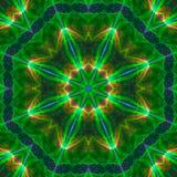 Caleidoscoopsamenvatting, het effect van de symmetrie magische textuur mandalamanier van het patroon digitale ontwerp, harmonie royalty-vrije illustratie