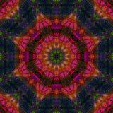 Caleidoscoopsamenvatting, mandalamanier van het symmetrie magische digitale ontwerp, harmonie royalty-vrije illustratie