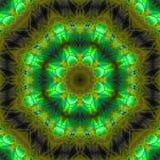 Caleidoscoopsamenvatting, symmetrie magische effect mandalamanier van het patroon digitale ontwerp, harmonie royalty-vrije illustratie
