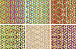 Caleidoscope backgrounds set Royalty Free Stock Images