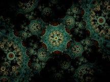 Caleidoscopio abstracto hermoso del fractal fotografía de archivo
