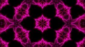 Caleidoscopio abstracto hermoso - la flor del fractal, 3d rinde el contexto, ordenador que genera el fondo metrajes