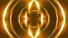 Caleidoscopio abstracto hermoso - la luz de oro del fractal, 3d rinde el contexto, ordenador que genera el fondo almacen de metraje de vídeo