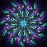 Caleidoscopio al neon dello starburst Fotografia Stock