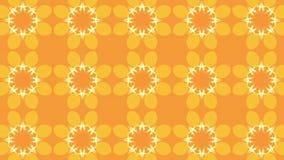 Caleidoscopio arancio delle particelle illustrazione di stock