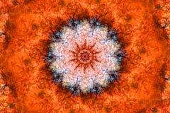 Caleidoscopio arancione Fotografia Stock