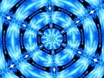 Caleidoscopio blu Fotografia Stock
