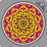 Caleidoscopio colorido. Vector. Fotografía de archivo